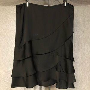 New York & Company Black Ruffle Skirt size 12 NWT